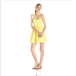 Lilly Pulitzer Christine Sunglow Yellow Sundress Size 2